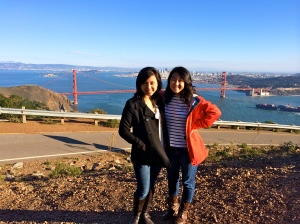 Myself and Sarah at the Golden Gate Bridge